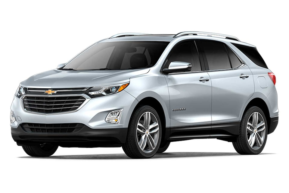 Chevrolet Equinox 2020, camioneta SUV en color plata brillante